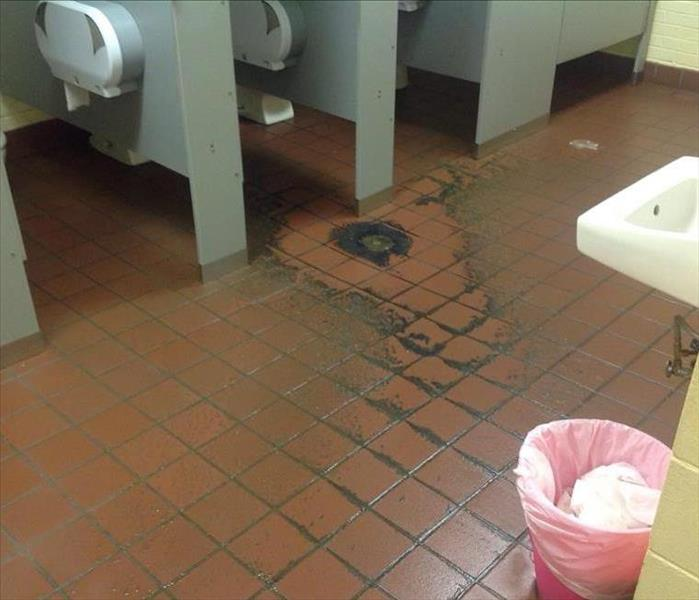 Sewage Damage In An Elementary School Before